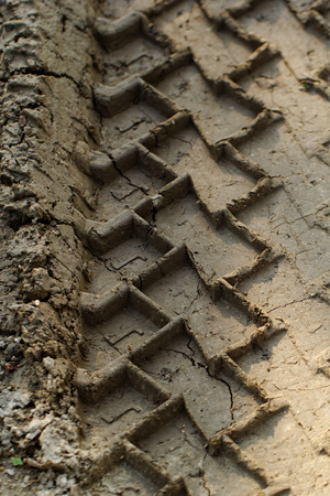 Photo of deep ruts in the mud photo
