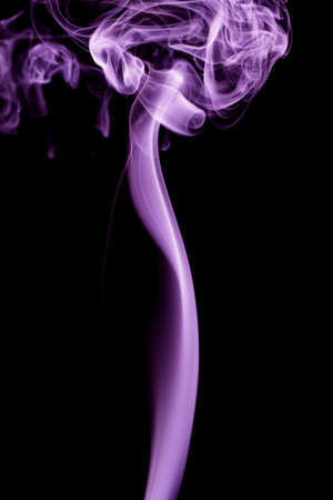 purple smoke in black background
