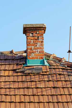 Photo of an old bricks stacked chimney Stock Photo - 32616404