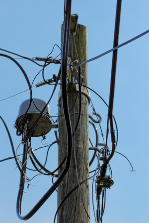 Close up photo of a pylon's wiring Stock Photo - 32616435