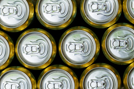 Much of drinking cans close up Stock Photo - 32616338