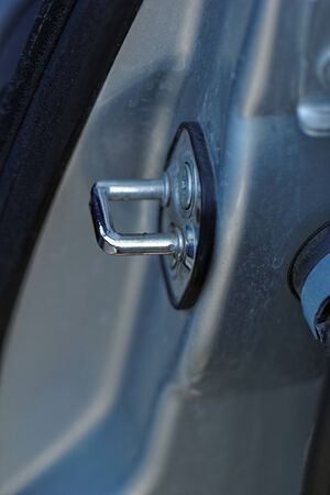 Close up photo of a car lock Stock Photo
