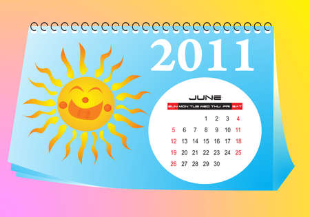 June desk calendar