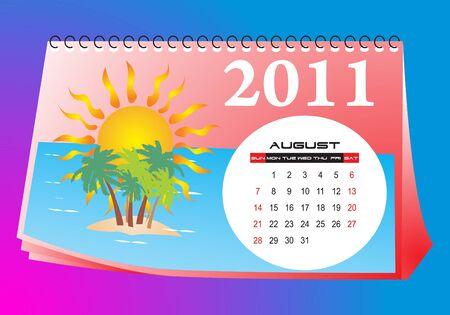 calendario da tavolo: Agosto scrivania calendario