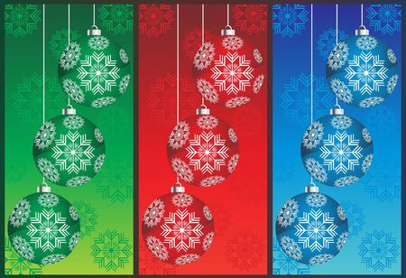 Set with christmas ball  Stock Vector - 11383722