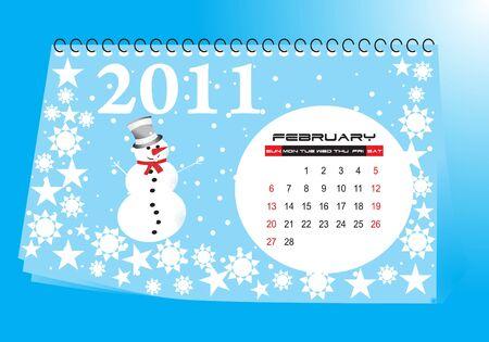 calendario da tavolo: Banco calendario febbraio 2011