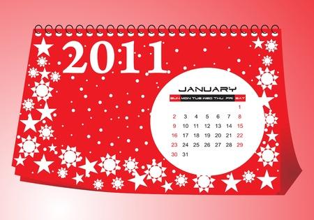 calendario da tavolo: Desk calendario Gennaio 2011