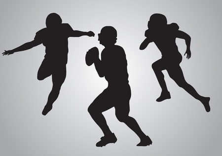 american football players, vector illustration