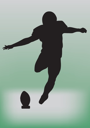 touchdown: american football player, vector illustration  Illustration