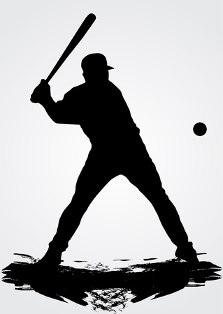 Baseball player, vector illustration