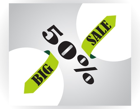 Big sale, illustration  Vector