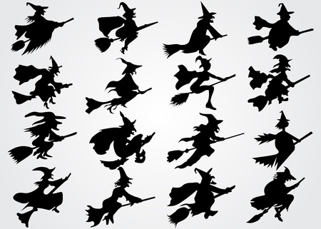 Witchs silhouette Illustration