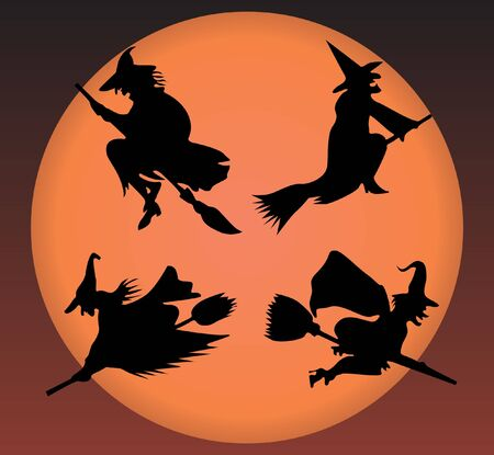 trickster: Witchs silhouette  Illustration