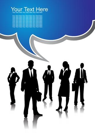 мысль: Бизнес народы, векторные иллюстрации