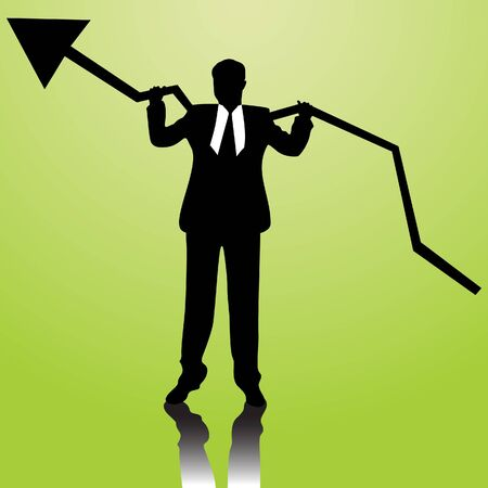 business people with arrow  Vector