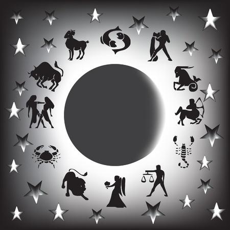 zodiac sign vector  Illustration