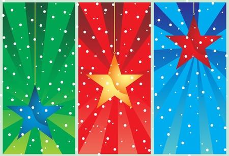 Christmas stars Stock Vector - 11359399