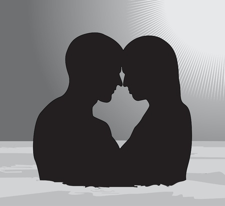 temptation woman and man  Vector