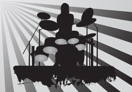 drummer, vector illustration  Vector