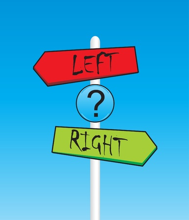right choice: Left and right arrows