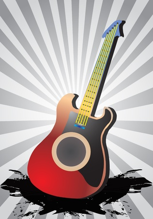 Acoustic guitar concept, vector illustration  Vector