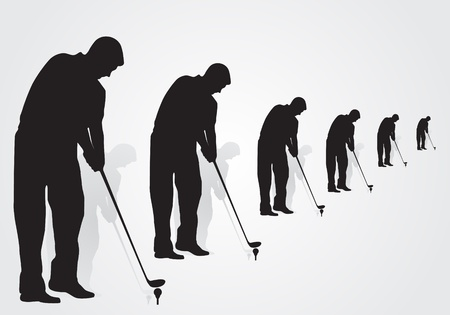 Golfer vector illustration Vector