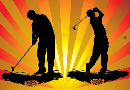 golfing: Golfer`s vector Illustration