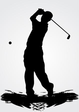 caddie: golfer vector