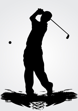 golfing: golfer vector