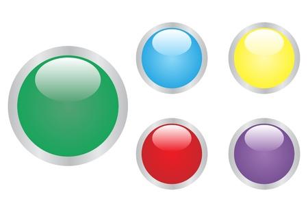 Glossy ball set