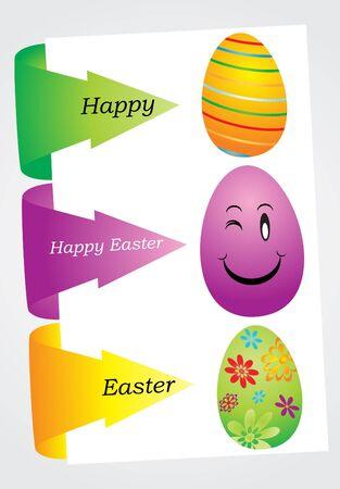 Easter tag set, vector illustration