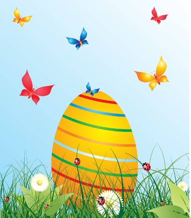 Easter background, eps 10 vector  Vector