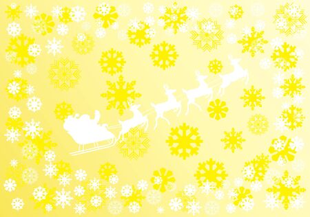 Vector Christmas background with white snowflakes and Santa Stock Vector - 11356855