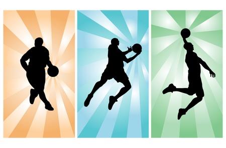 jump shot: Basketball players
