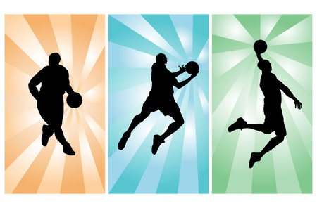 basketball net: Los jugadores de baloncesto
