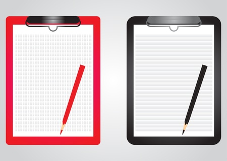 blank papers with pencils  Illustration