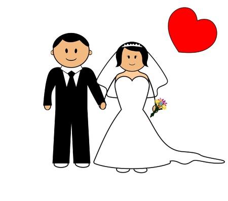 to wed: Cerimonia di nozze, illustrazione vettoriale Vettoriali