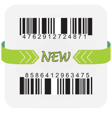 Bar code labels, vactor illustration