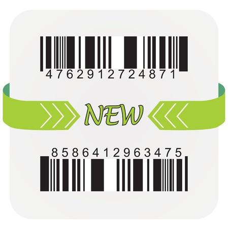 Bar code labels, vactor illustration
