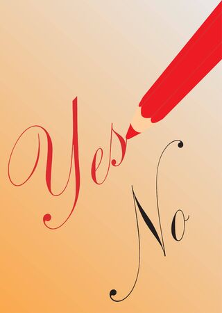 Pencil with yes and no  Vector