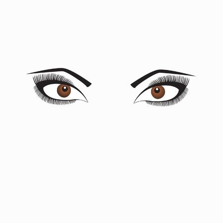 Women eyes, vector illustration Illustration