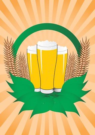 Beer, vector illustration