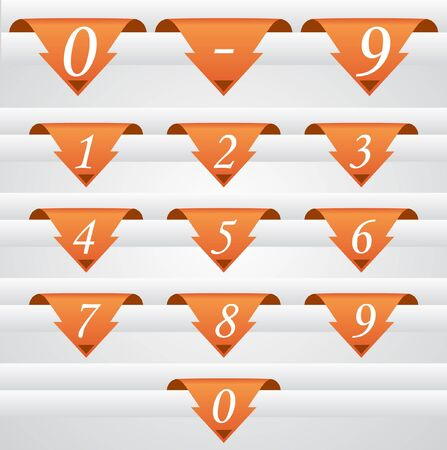 labels set with numbers, vector illustration  Illustration