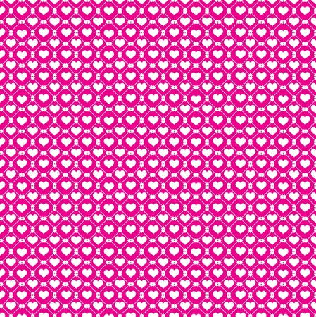 White hearts and pink background  Illustration