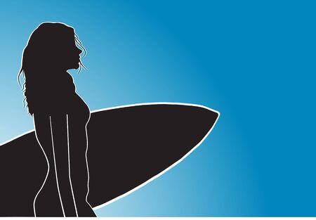 Surfer women Vector