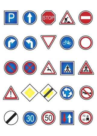 trafic: Road signs