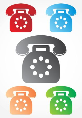 Old phone signs Illustration