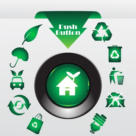 Recycle button, vector illustration Illustration