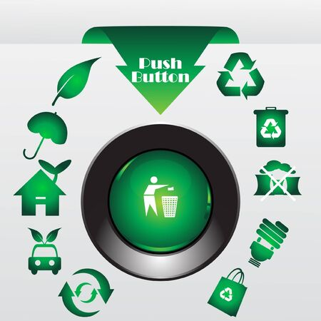 Recycle button, vector illustration Vector