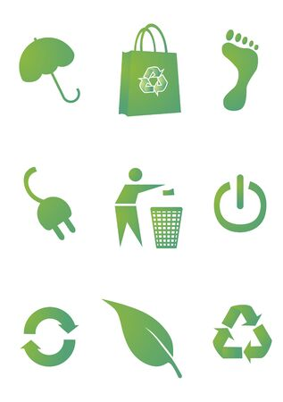 Recycle sign set, vector Illustration